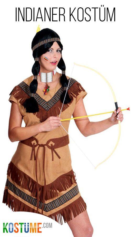 Indianerin Rufende Eule Damenkostum Bei Kostume Com Indianer
