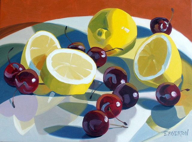 "Leigh-Anne Eagerton | ""Lemon and Cherrie Series"", oil on canvas"