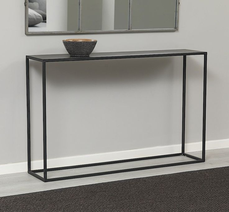 Charming Zen Black Metal Console Table