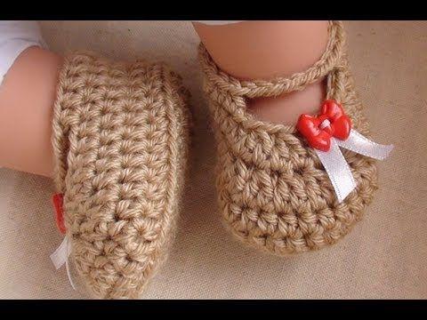 Tutorial Sandalias Bebé Crochet o Ganchillo Baby Shoes (English Subtitles) - YouTube