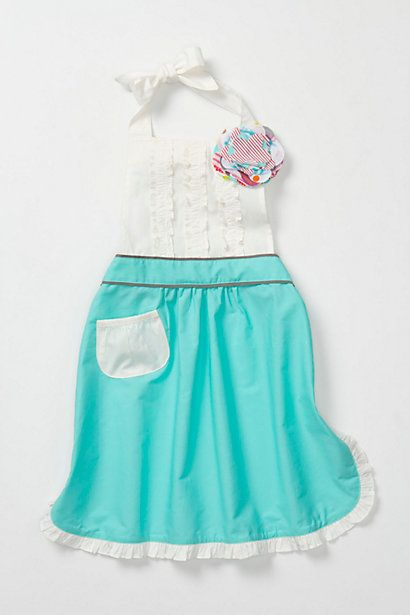 Tea-And-Crumpets Kids Apron #anthropologie