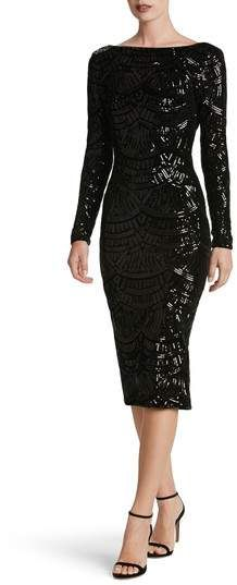 #affiliatead -- Dress the Population Emery Scoop Back Sequin Midi Dress -- #chic only #glamour always