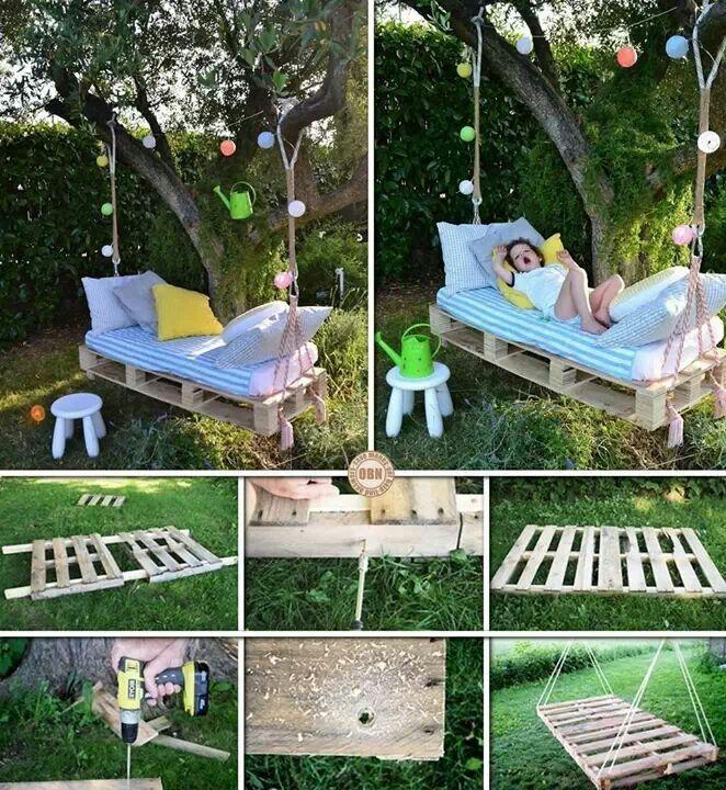 Diy garden bench: Pallet Beds, Pallet Swing Beds, Pallet Swings ...
