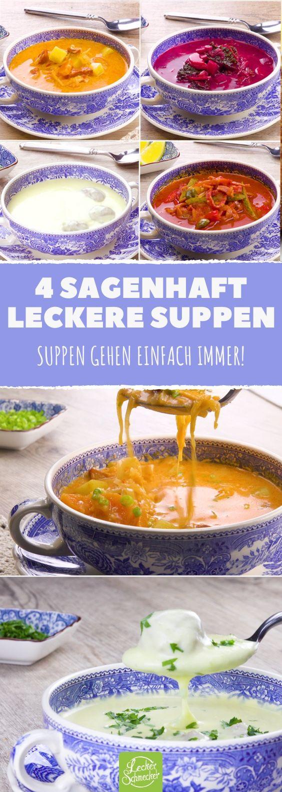 Das sind unsere 4 allerbesten Suppen zum Nachkochen! #rezept #rezepte #suppe #eintopf #soljanka #borschtsch #vorspeise #onepot