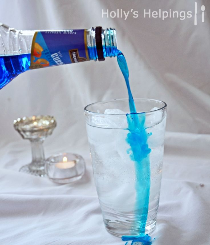 Vodka, Peach Schnapps and Blue Curacao with sprite