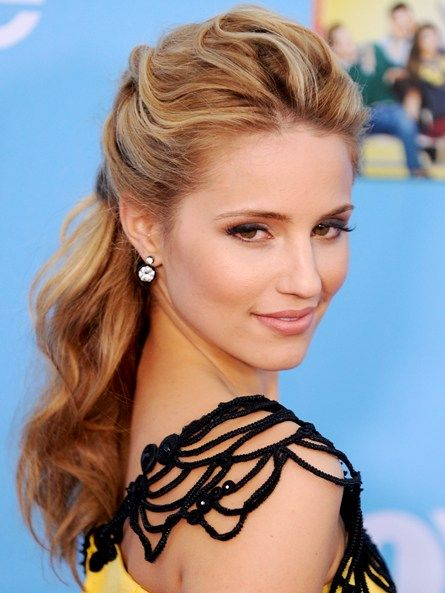 diana agron gives the season's beach waves a sultry elegancy