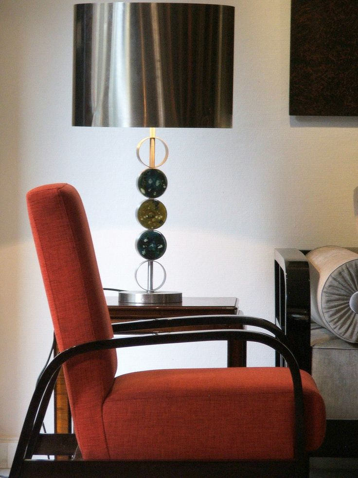 Hand made danish design lamp, and a fantastic hungarian bauhaus armchair.