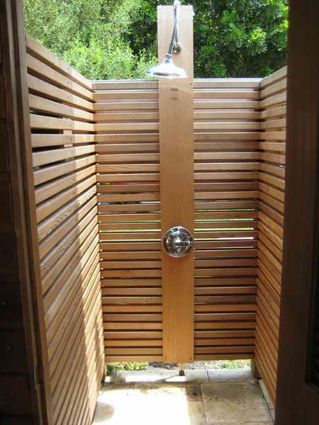 Outdoor Shower Wooden Outdoor Shower Assembly