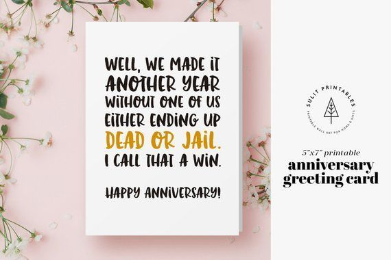 Items Similar To Printable Greeting Card Anniversary Greeting Card Wedding Annive Funny Anniversary Cards Anniversary Greeting Cards Printable Greeting Cards