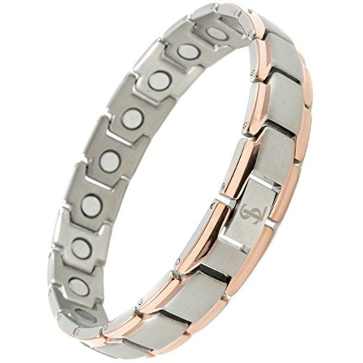 Magnetic Bamboo Design Bangle - Magnetic Therapy Bracelet (Silver) yc22OVOwy