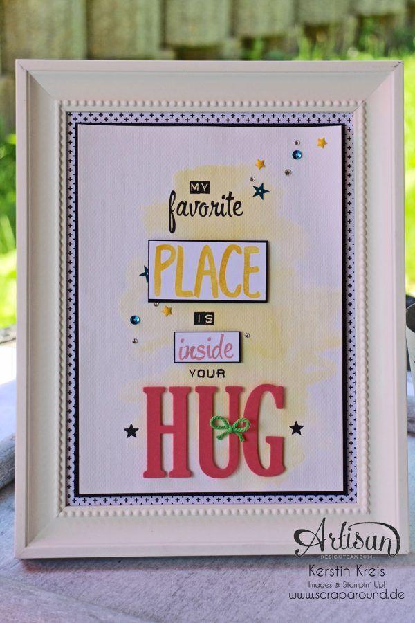 Stampin' Up! Color your world BlogHop - Dekorahmen mit Spruch
