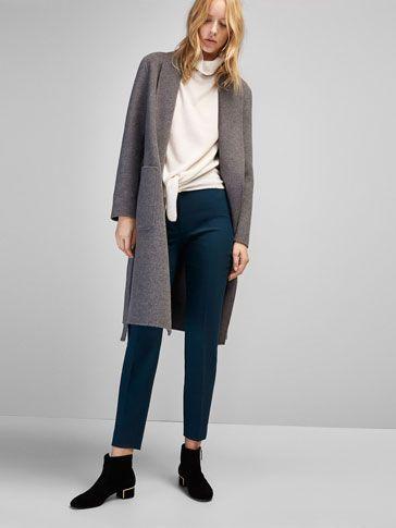 Pantalons et jeans SOLDÉS pour femme hiver 2016-17 de Massimo Dutti,  un must dans votre dressing : pantalons en coton ou denim, unis ou imprimés.