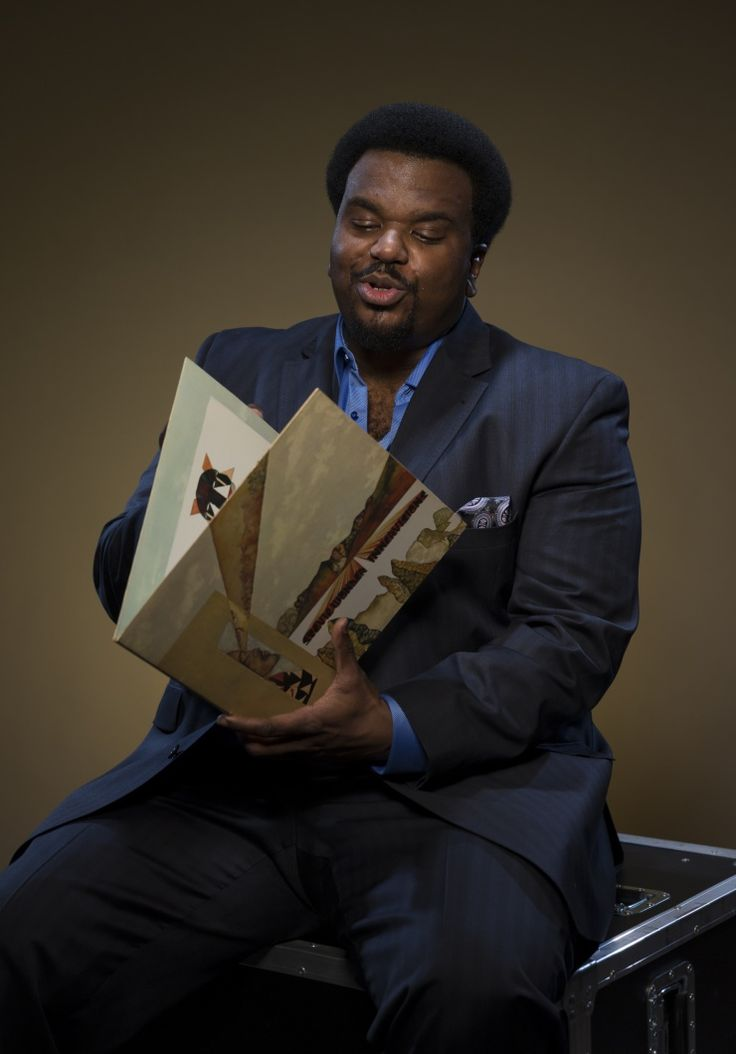 "Actor Craig Robinson is photographed with a vinyl copy of Stevie Wonder's Innervisions backstage at the taping for ""Stevie Wonder: Songs In The Key Of Life — An All-Star GRAMMY Salute"" on Feb. 10 in Los Angeles"