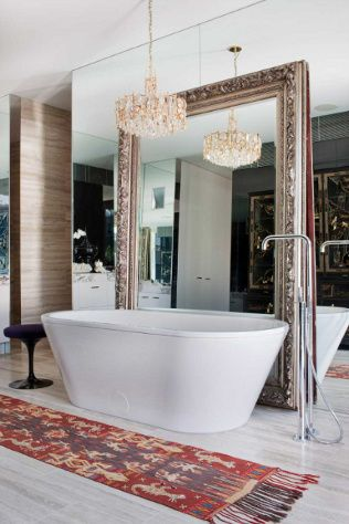 I'll take that tub, chandelier, and massive mirror please and thank you.