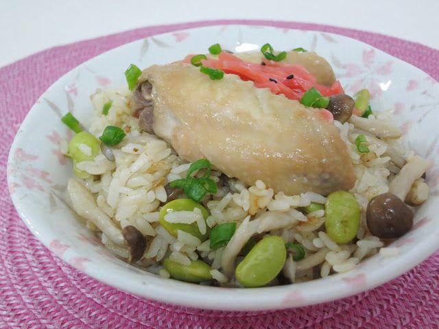 PinkyPiggu: Miso Chicken Wing Rice using Panasonic Rice Cooker ~ Recipe Included!
