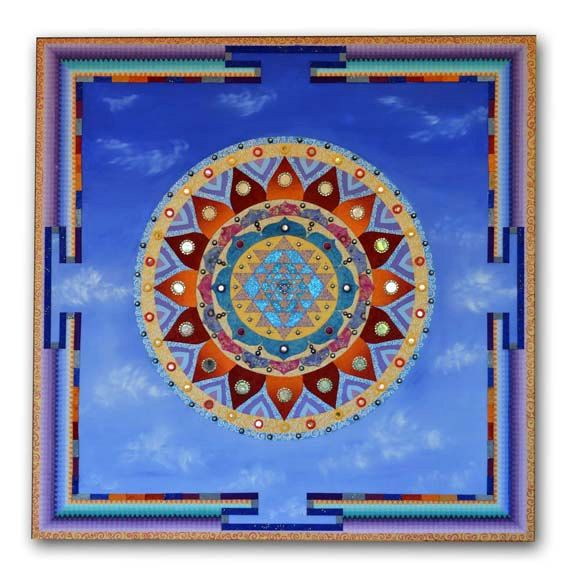 Sri Yantra Mandala by Vanisa Chanthapanya