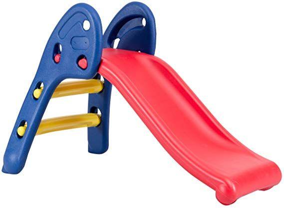 Baby Joy Folding Slide Indoor First Slide Plastic Play Slide Climber Kids Ellipse Rail Toys Games 3 In 1 Featur In 2020 Kids Slide Toddler Slide Step Kids