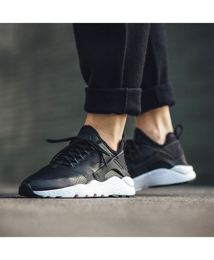 9225f22e7212 Nike Air Huarache Run Ultra Trainers In Premium Black White