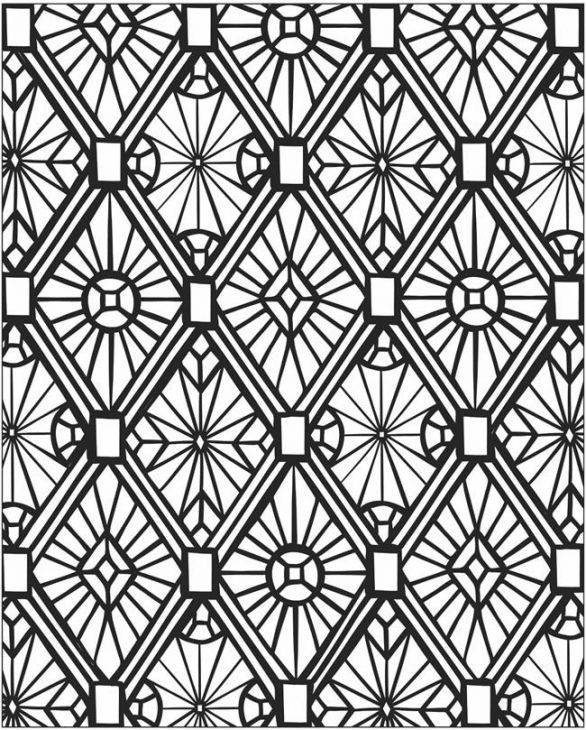 Online mosaic coloring page abstract coloring pages for Mosaic patterns online