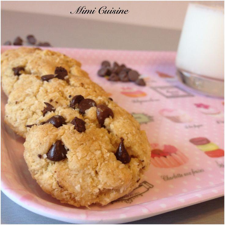 Cookies Noix de Coco Pépites de Chocolat.Retrouvez mes recettes sucrée et salées Companion, Cookeo, Thermomix, MultiDélices, avec ou sans appareil culinaire