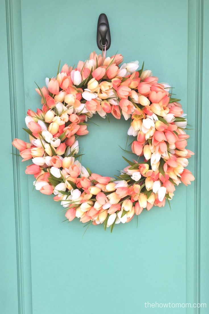 Ie closet doors and sometimes on an exterior door in conjunction with - Diy Tulip Wreath
