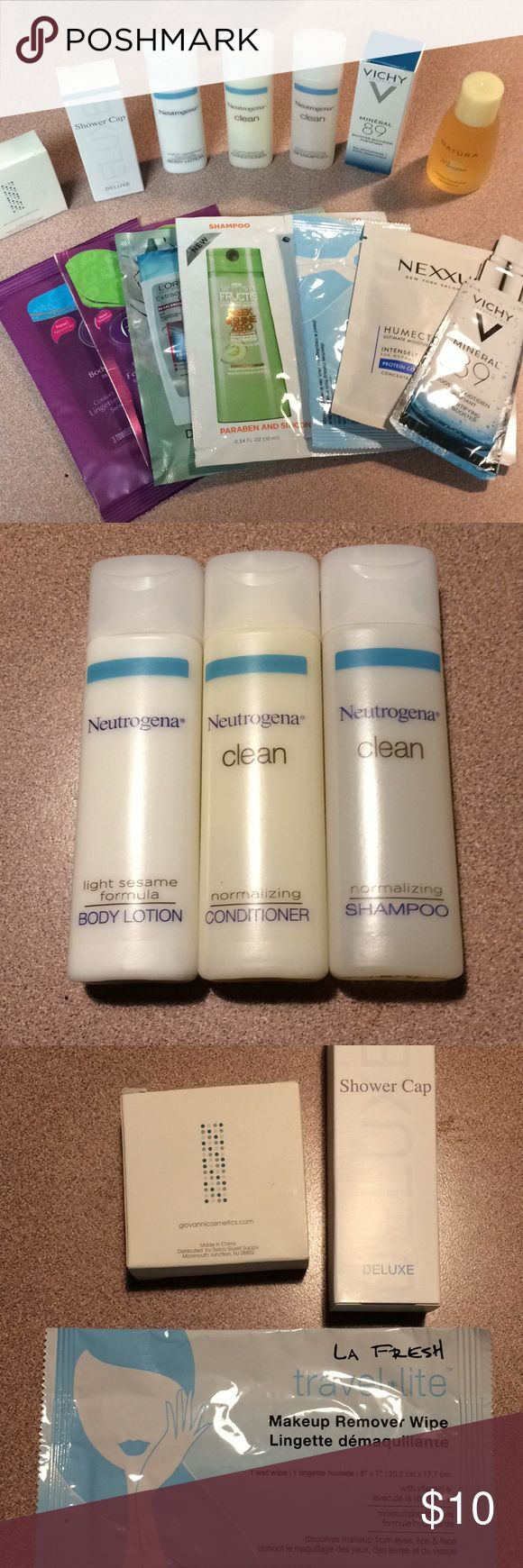 Bundle of beauty/health samples/trial size Neutrogena