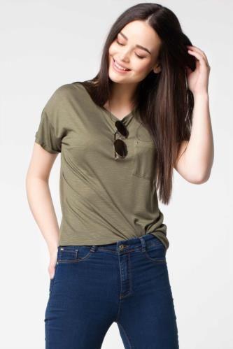Bluz - Cep Detaylı Bluz
