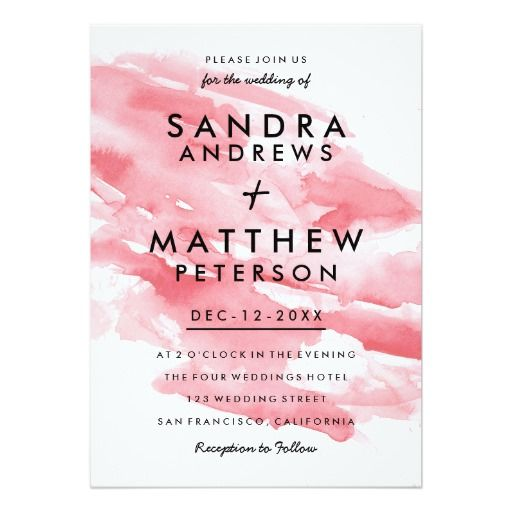 872 best WATERCOLOR WEDDING Invitations images on Pinterest