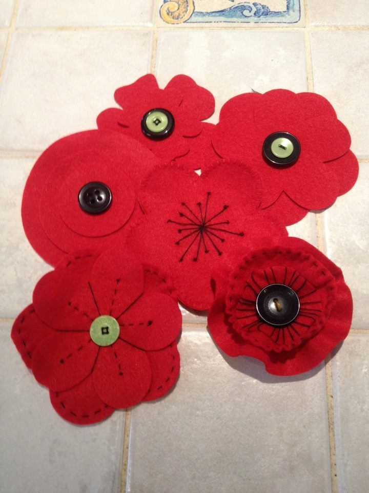 Australia - Rememberance Day Nov 2018- Make poppies for display.