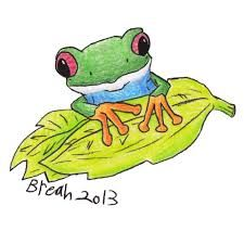 Image result for Sketch of a cartoon frog