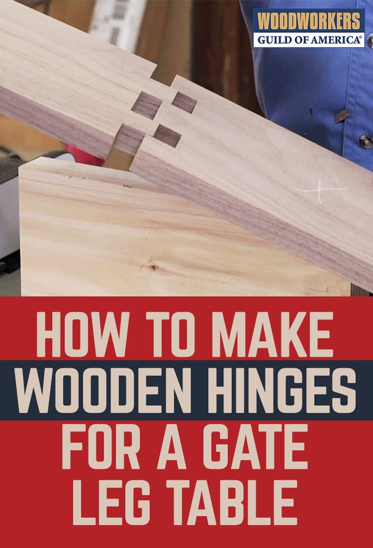 Discover how to make wooden hinges for a gateleg table, hinged-lid blanket chest or other furniture projects. Watch as we teach you how to set up your tablesaw with a shop-made fence that guides your workpiece past a dado head blade, creating perfect teeth and sockets. And this wooden hinge is just the beginning. WWGOA's extensive, authoritative video collection is the best place to go to learn how to build furniture.