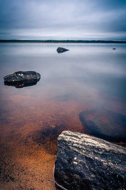Rocks, Sand and Still Water. Tiilikkajärvi National Park, Eastern Finland, 2012