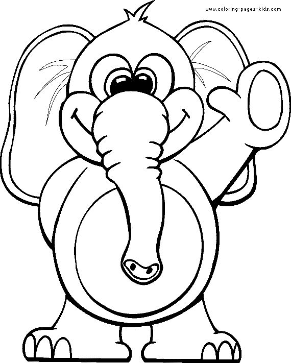 coloring elephant color page animal coloring pages plate colori and kids coloring book pages colori elephant color page animal coloring pages color plate - Kids Coloring Pages Animals