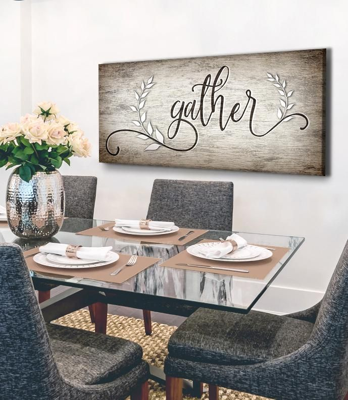 Kitchen Wall Art Gather V6 Wood Frame Ready To Hang In 2020