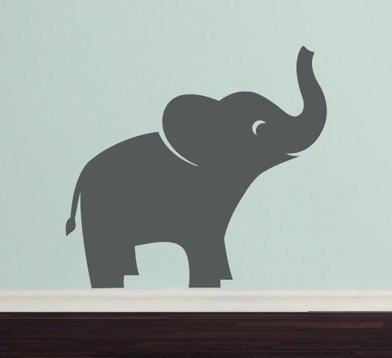 Elephant Vinyl Wall Decal - Jungle Safari - Children - Boy Girl. $22.00, via Etsy.