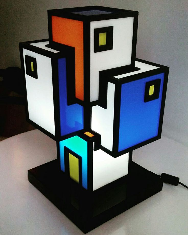 Agglomerato luminoso 2 Wood, plexiglass, electrical parts, colored films 30 ×3o x 52,5 2016