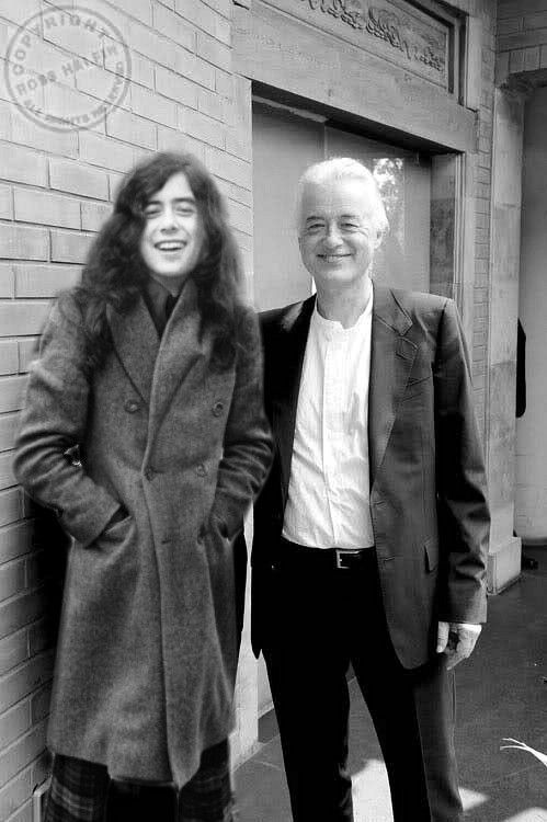 Jimmy Page young and old