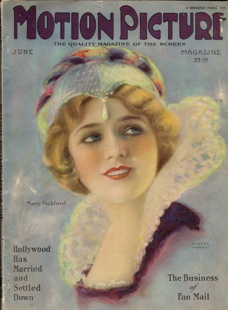 Motion Picture Magazine - June 1924 - Mary Pickfor - silent film magazine