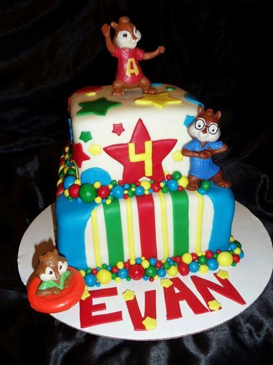 Alvin And The Chipmunk Birthday Cake