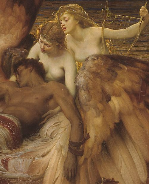 """The Lament for Icarus"", detail, 1898, Herbert James Draper #Draper #Icarus"