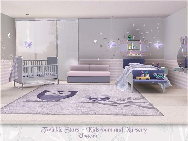 Twinkle Stars Kids Room and Nursery by ung999 - Sims 3 Downloads CC Caboodle