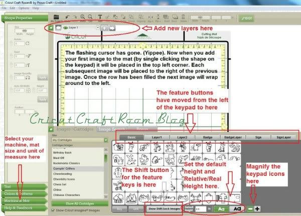 Cricut Craft Room Help: Visual Tutorial On Updates For Cricut Craft Room
