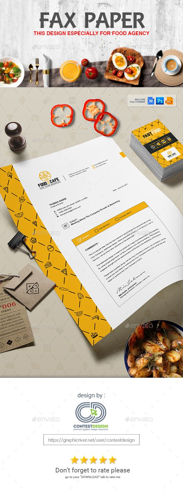 A4 Fax Paper / Cover Sheet Template