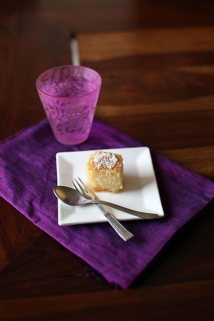 Semolina honey lemon syrup cake. Oh my!