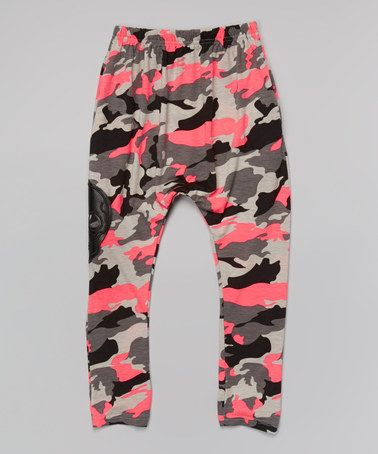 Look what I found on #zulily! Pink Camo Harem Pants - Infant, Toddler & Girls by Leighton Alexander #zulilyfinds