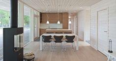 Современные финские двухэтажные дома с плоской крышей Plusvilla Collection