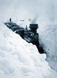 Train Stuck in Snow, Minnesota, 1881.