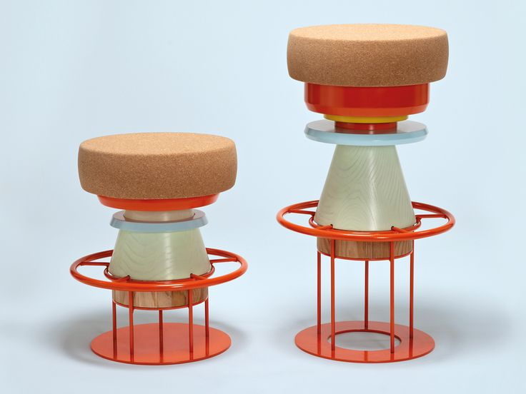 Note Design Studio @ La Chance Tembo Is A Stool Made Of Stacked Pieces Of  Wood, Metal, And Cork. This U0027modern Totemu0027 Has A Playful And Bulky Aspect  ...