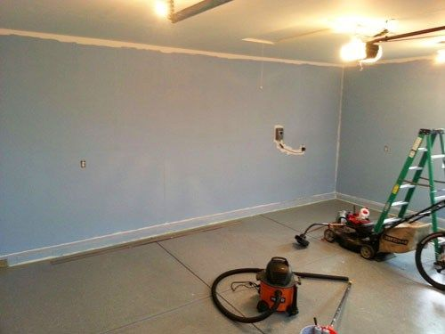 Painting Garage Walls as part of my Garage Finishing Project