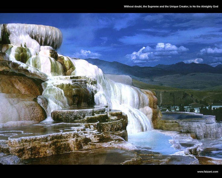Mammoth Hot Springs, Yellowstone National Park, Wyoming ...
